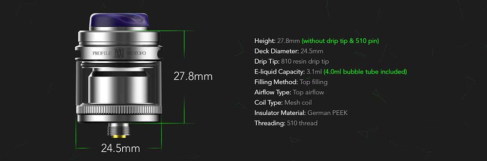 Wotofo Profile M Specifications