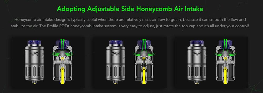 Wotofo Profile RDTA With Side Honeycomb Adjustable Air Intake