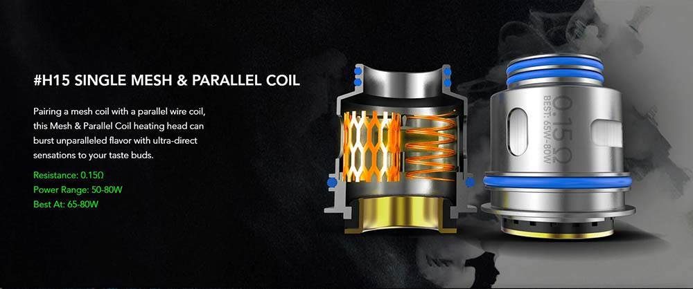 Wotofo nexMesh Pro #15 Single Mesh Parallel Coil