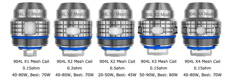 904L X Mesh Coils