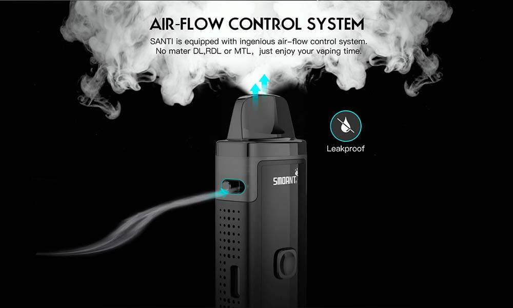 Smoant Santi Pod Kit With Ingenious Air Flow Control System