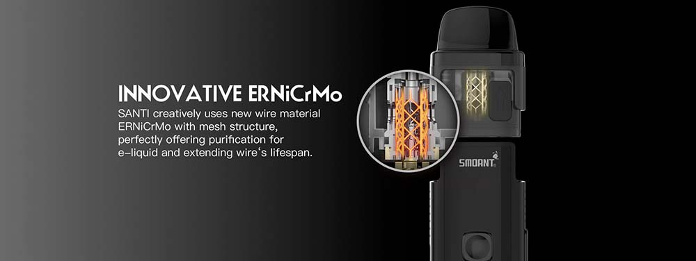 The Smoant Santi Coils With Mesh Structure