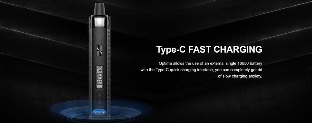 Vapefly Optima Kit With USB Type-C Port