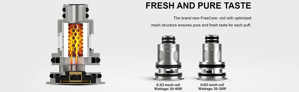 Vapefly Optima Pod System Comes With FreeCore Mesh Coils