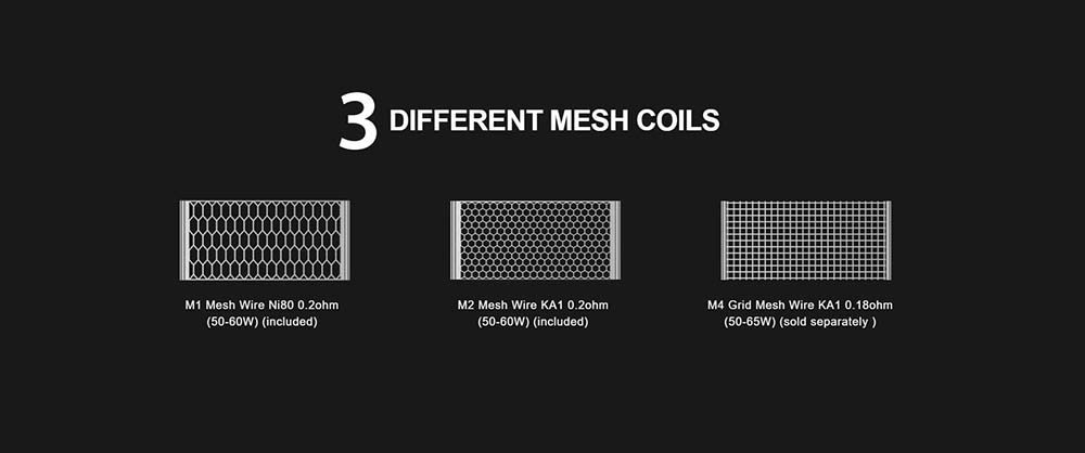 3 Types Of Vapefly Mesh Coils Available