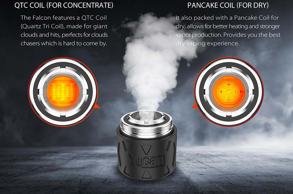 Yocan Falcon Kit With QTC And Pancake Coils