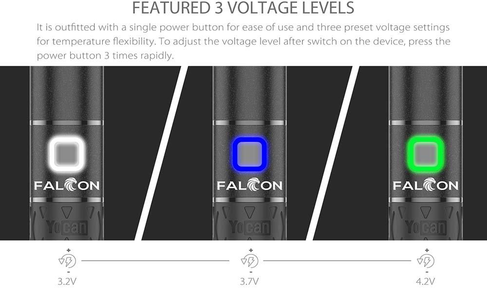 Yocan Falcon 3 Voltage Levels Adjustable