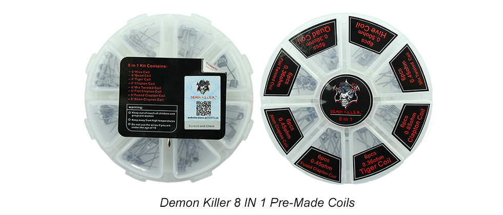 Demon Killer Pre-Made 8 IN 1 Coils